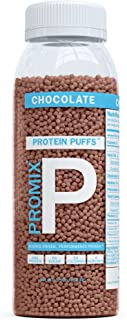 PROMIX Whey Protein Puffs: Whey Isolate Crisps Supplement - Made with Our Standard 100% All Natural Grass Fed Source for Best Fitness & Weight Loss: Soy Free Chocolate Flavor Sample Size, 4 Servings