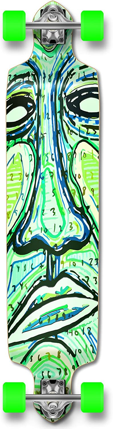 Max 81% OFF Yocaher Punked Countdown Longboard Fashionable Skateboard Complete - Avail