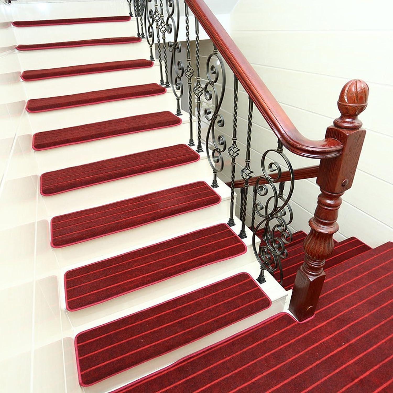 Household Coral Fleece Stair Blankets Non-Slip Stair Mat Tread Mats, Multiple Colour Options(Red),8Pcs,80  25  3Cm