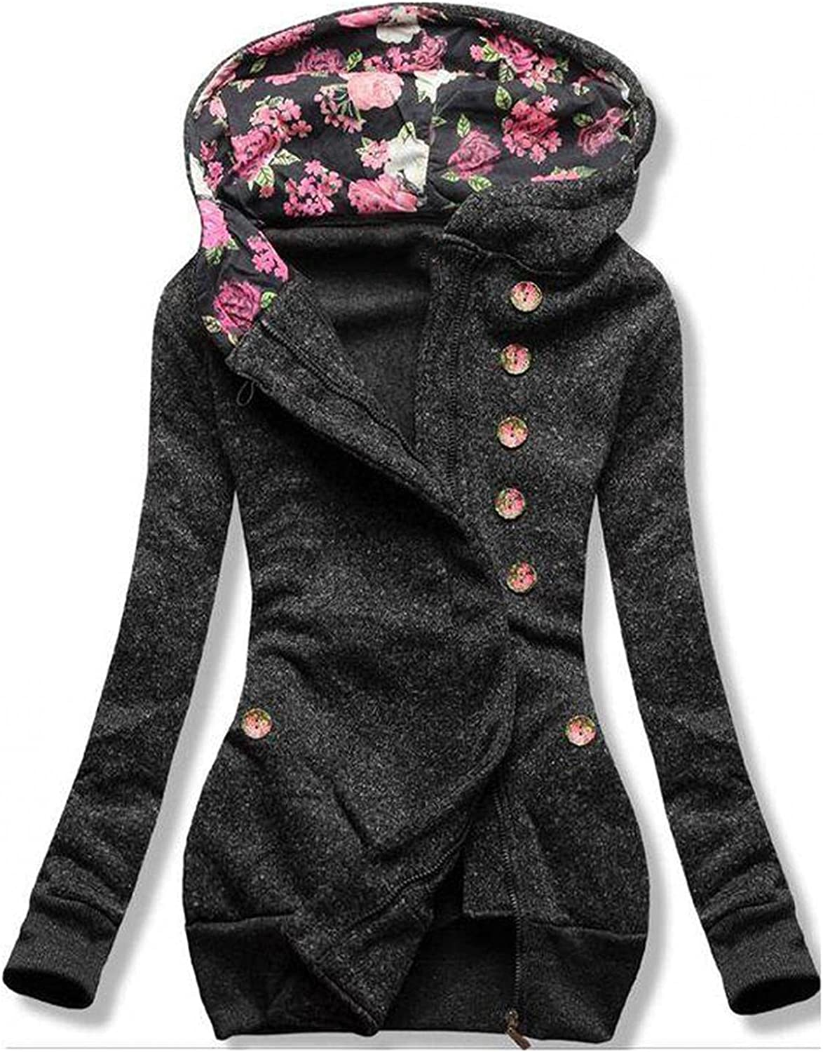 Women Zip up Hoodie Thermal Jacket Pocke Full Zipper Max 81% OFF Long A surprise price is realized