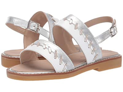 Elephantito Larissa Sandal (Toddler/Little Kid/Big Kid) (White) Girls Shoes