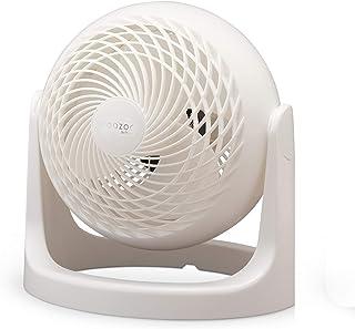 Iris Ohyama - Ventilador de mesa potente y silencioso, ángulo ajustable de 360 ° - Woozoo PCF-HE18 - Blanco, 32,2 x 28,5 x 28,5 cm