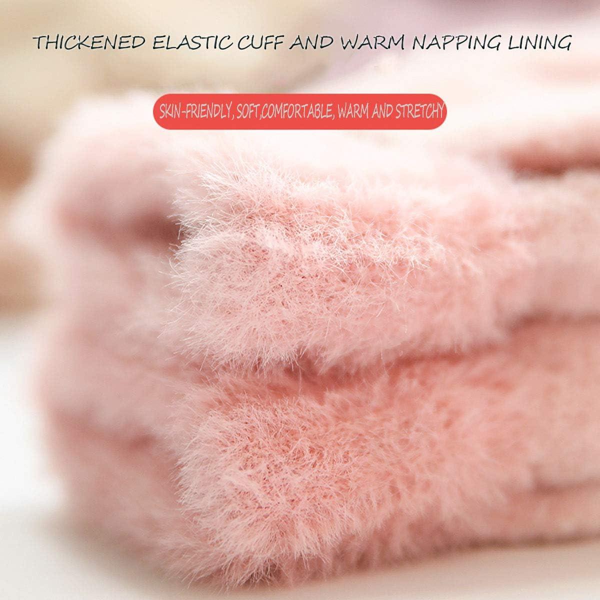Convertible Fingerless Gloves Texting Gloves Stretch Knit Gloves Winter Warm Gloves Mittens Gift for Girlfriend