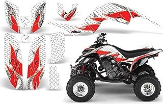 2001-2005- Yamaha Raptor 660 AMRRACING ATV Graphics Decal Kit-Tribal Flame-Red-White