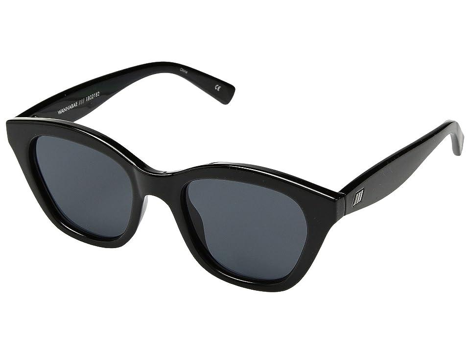 Le Specs Wannabae (Black/Smoke Mono) Fashion Sunglasses