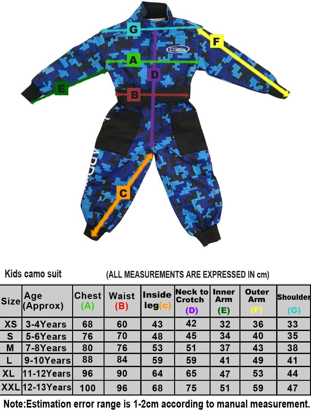 3-4 A/ños Gafas Casco/&Guantes L Guantes Traje XS Rojo Leopard LEO-X15 Rojo Casco de Motocross para Ni/ños Camo Traje de Motocross para Ni/ños