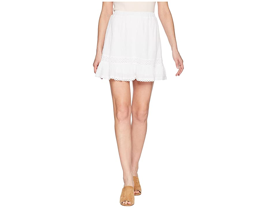Michael Stars Double Gauze Peasant Skirt (White) Women's Skirt