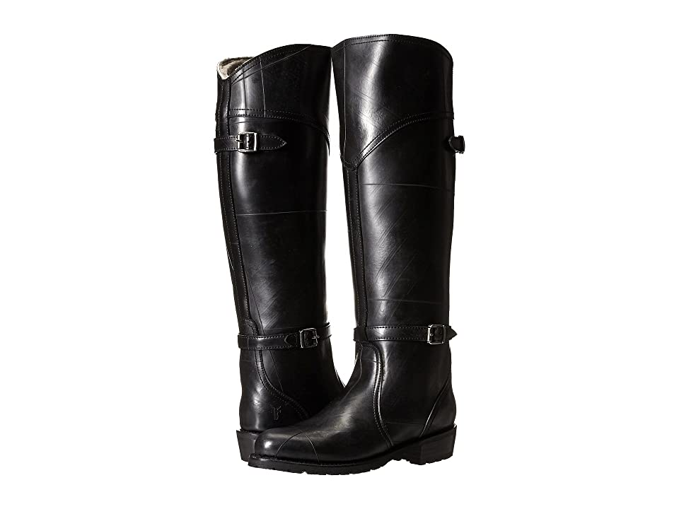 Frye Dorado Lug Riding (Black Recycled Rubber/Shearling) Women