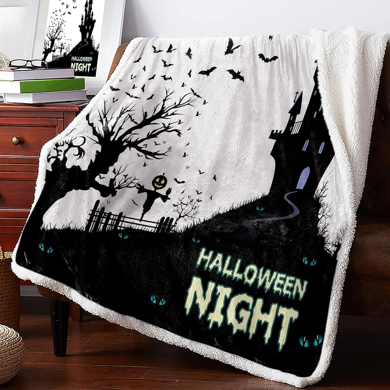 Philadelphia Mall IDOWMAT Sherpa Blanket Super Fleece Plush Soft Halloween depot