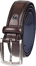 حزام جلد رجالي من Nautica بحافة ريش مع حزام جلد كاجوال مزدوج -  Feathered Edge With Double-stitch Casual Leather Belt 56