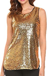 Generic Womens Vest Shirts Sparkle Sequin Summer Sleeveless Embelished Tank Top