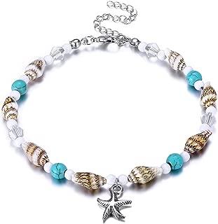 Puka Shell Anklet for Women Summer Natural Cowrie Adjustable Ankle Bracelet, Handmade Boho Hawaiian Beach Seashell Jewelry for Girls