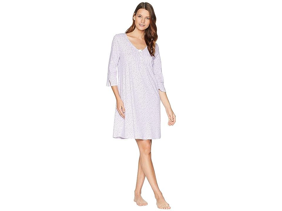 Carole Hochman Long Sleeve Sleep Shirt (Lavendar/Print) Women