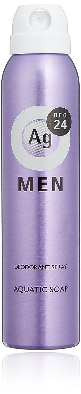 埋める社会椅子エージーデオ24 メンズ デオドラントスプレー アクアティックソープの香り 100g (医薬部外品)