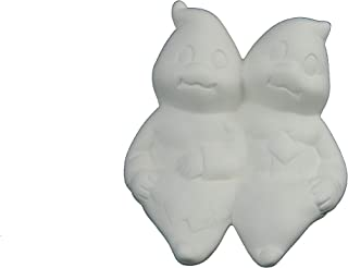 Ghosts - Sitting Ghost Couple by Dona's Unpainted Halloween Ceramic Bisque