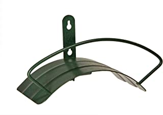 Yard Butler Deluxe Wall Mount Hose Hanger Easily Holds 100' Of 5/8' Hose Solid Steel Extra Bracing And Patented Design In NEW COLORS and DECORATIVE DESIGNS IHCWM-1 Textured Forest Green (Renewed)