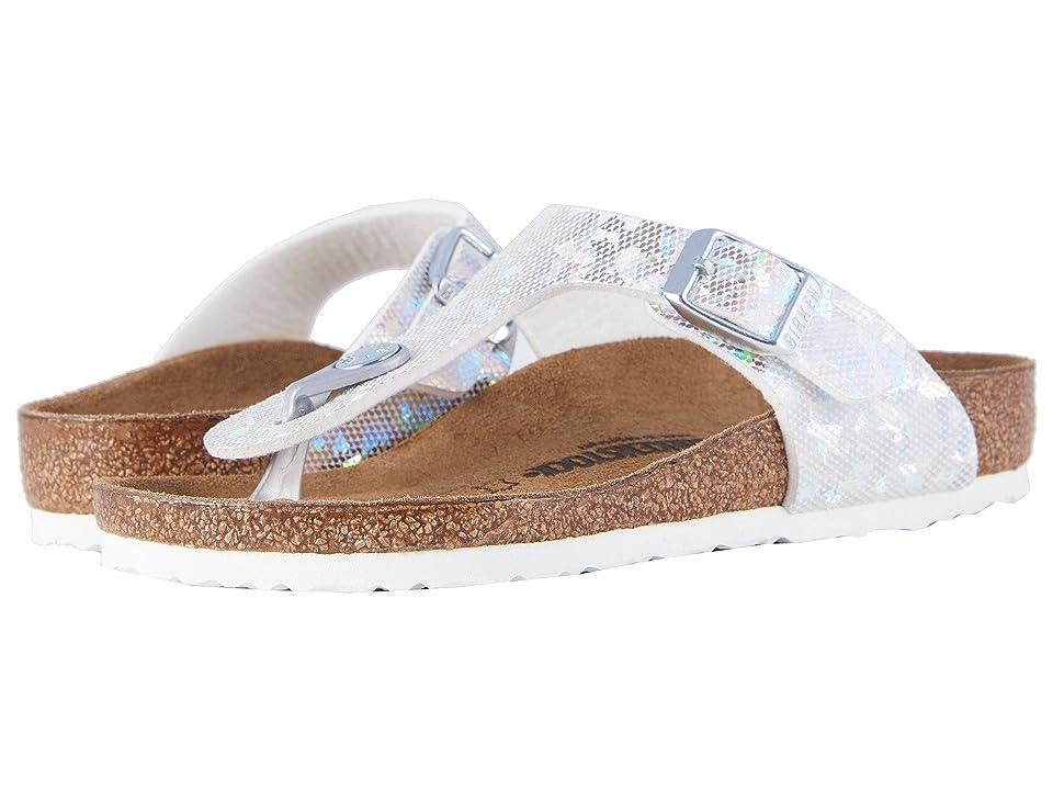 Birkenstock Kids Gizeh (Little Kid/Big Kid) (Hologram Silver Birko-Flor) Girls Shoes