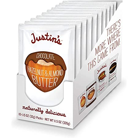 Chocolate Hazelnut & Almond Butter Squeeze Pack, Organic Cocoa, Gluten-Free, Responsibly Sourced, Packaging May Vary, (1.15oz Each) (Pack of 10), New