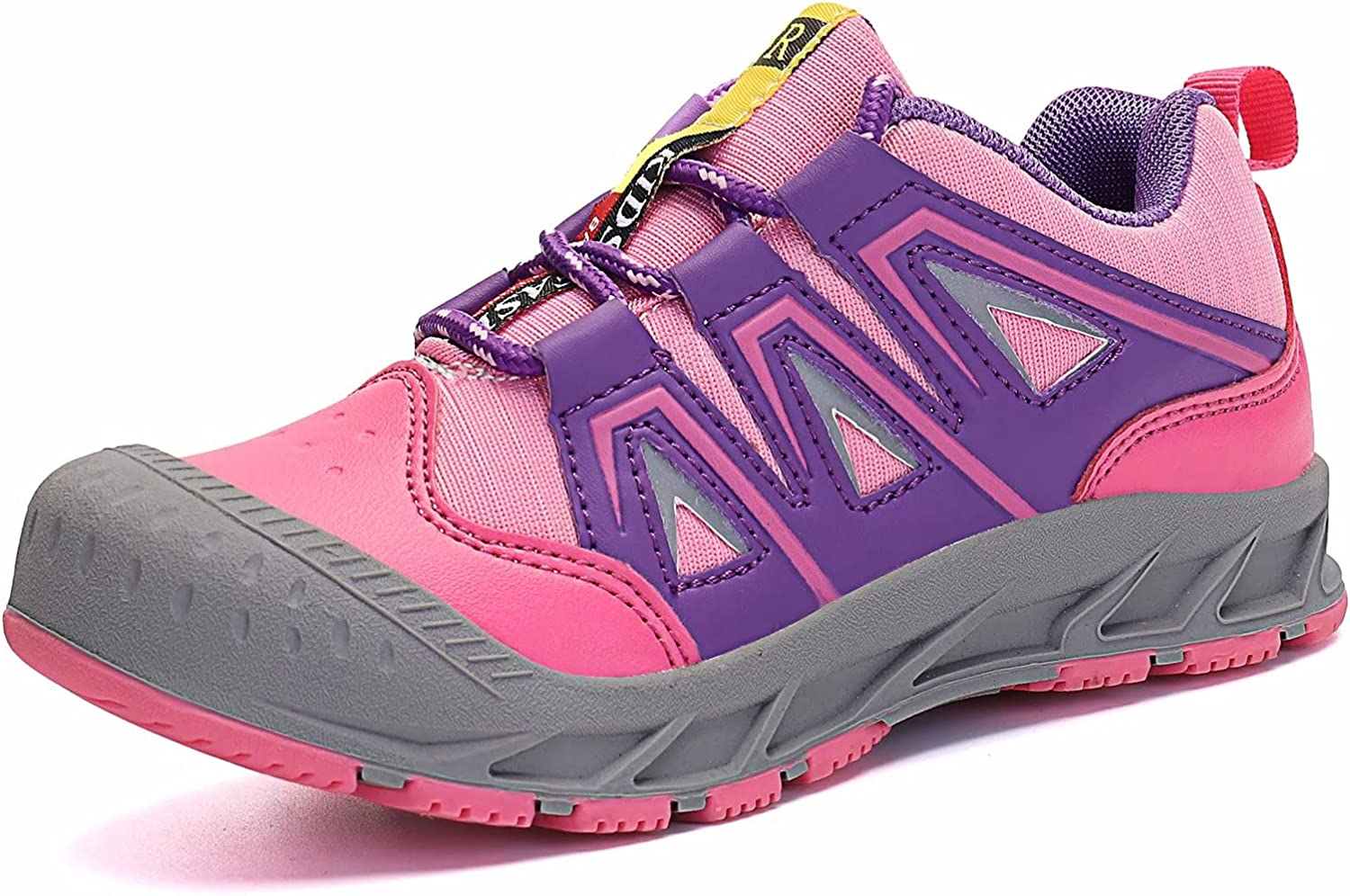 MEDUCH Boys Girls Trail Running Shoes Kids Breathable Hiking Shoes Lightweight Athletic Running Shoe