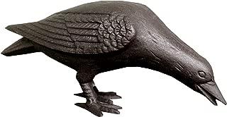 NACH JS-90-7117 Decorative Cast Iron Crow with Head Down, Black