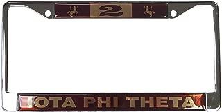 Desert Cactus Iota Phi Theta Fraternity Line Number # Metal License Plate Frame for Front Back of Car iota (#2 License Plate Frame)