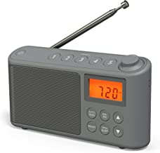 DAB/DAB+ & FM Radio, Mains and Battery Powered Portable DAB Radios Rechargeable Digital Radio with USB Charging for 15 Hou...
