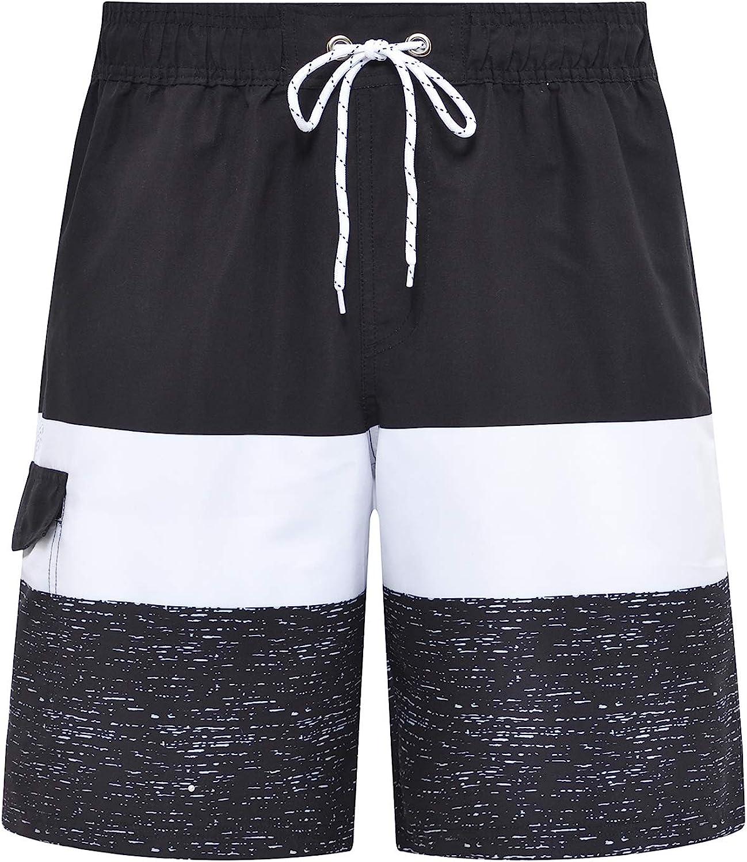 Tyhengta Men's Board Shorts Quick Dry Swim Trunks with Mesh Lining