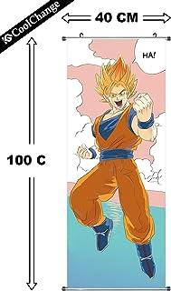 CoolChange Poster/ kakemono Enrollable de Dragon Ball de Tela, 100x40cm, Tema: Super-Saiyajin, Ja!