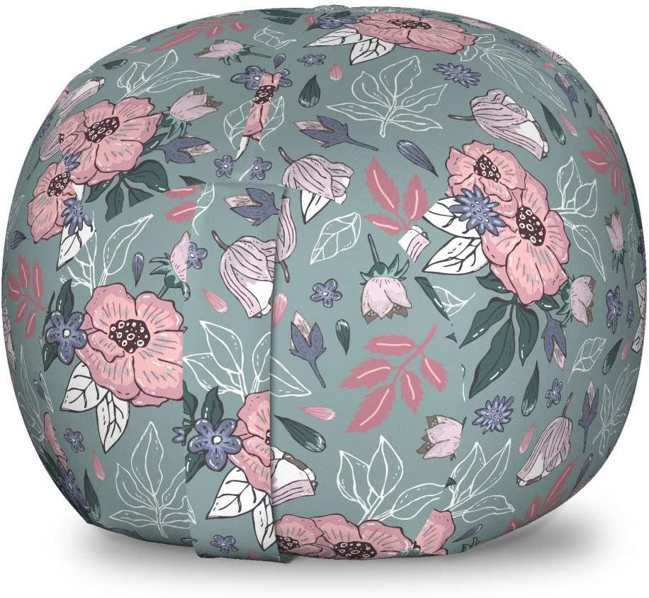 Ambesonne Garden High quality new Art Storage Toy Bag Flowers Blooming Max 72% OFF Thr Chair
