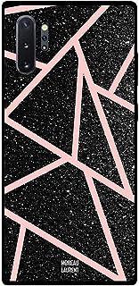 Samsung Note 10 Plus Case Cover Black Gliters Light Pink Paths Pattern, Moreau Laurent Premium Design Phone Covers