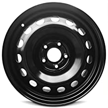 Road Ready Car Wheel For 2015-2019 Jeep Renegade 16 Inch 5 Lug Black Steel Rim Fits R16 Tire - Exact OEM Replacement - Full-Size Spare