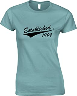 Tim And Ted 21st Birthday Womens Tshirt Established in 1999 Logo
