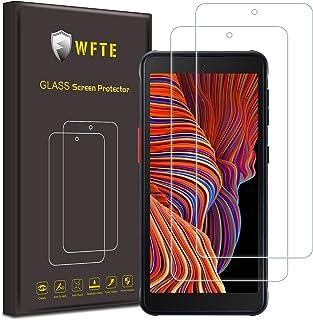 WFTE [Lot de 2] Verre Trempé pour Samsung Galaxy XCover 5, 0,26mm Film de Protection d'écran avec Haute Transparence à 9...