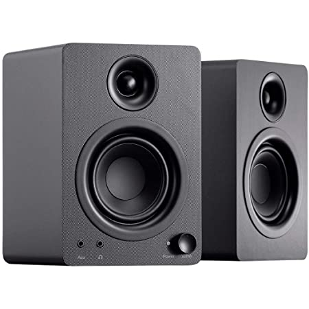 Monoprice DT-3 50-Watt Multimedia Desktop Powered Speakers Perfect Complement to Any Home, Office, Gaming, or Entertainment Setup