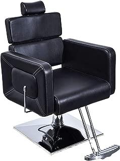 BarberPub Classic Hydraulic Barber Chair Salon Styling Beauty Spa Chair 2065 (Black)