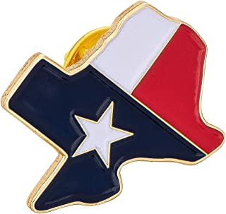 Texas TX State Flag Inside Border Flag Lapel Pin Enamel Made of Metal Souvenir Hat Men Women Patriotic Texan (Flag Inside Border Pin)