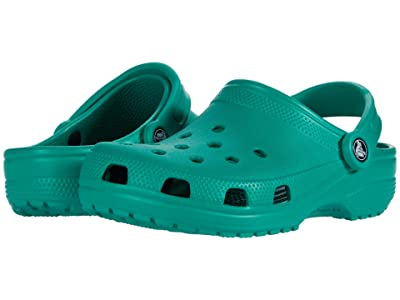 Crocs Kids Classic Clog (Toddler/Little Kid/Big Kid) (Deep Green) Kids Shoes