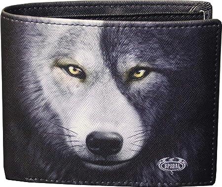 Spiral Wolf Chi Brieftasche Zweifach Faltbar Mit Rfid Blocker Und Geschenkbox Bekleidung