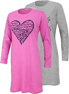 Nachthemd Schlafanzug Nachtw/äsche W/äsche Schlafw/äsche 2er Pack KB Socken