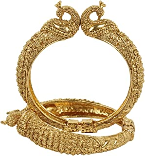MUCH-MORE Great Collection Bollywood Fashion Gold Plated Tone Indian Polki Traditional Bangles/Bracelets Jewelry for Women