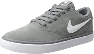 Nike Men's SB Check Solarsoft Skate Shoe Cool Grey/White 9 D(M) US