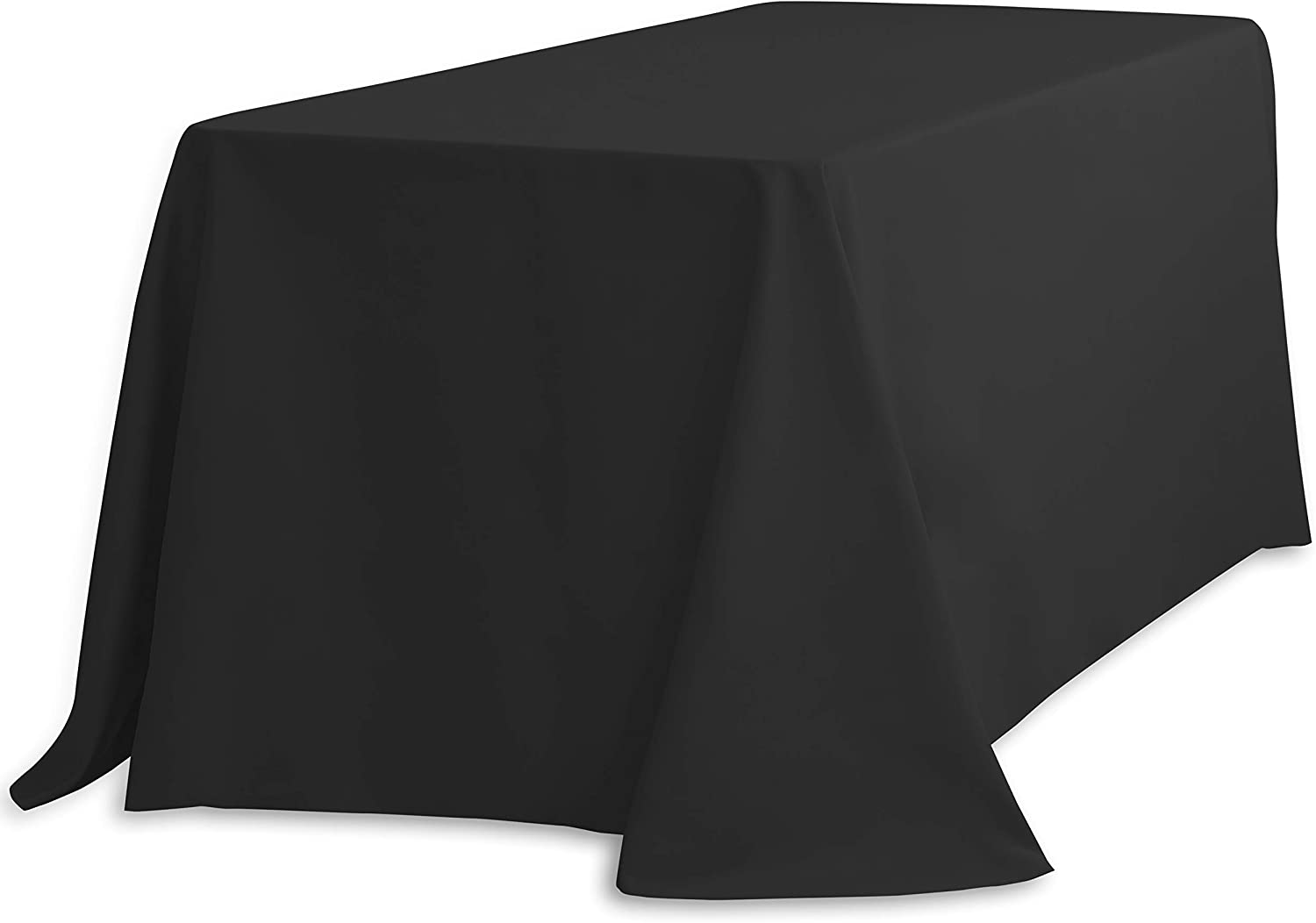 LinenTablecloth 90 Inventory cleanup selling sale x 132-Inch Tablecloth w Rectangular Finally popular brand Polyester