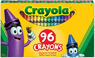 Crayola 52-0096 96 Crayons, School and Craft Supplies, Gift for Boys and Girls, Kids, Ages 3,4, 5, 6 and Up, Back to...