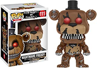 Funko Nightmare Freddy: Five Nights at Freddy's x POP! Games Vinyl Figure & 1 POP! Compatible PET Plastic Graphical Protector Bundle [#111 / 11064 - B]