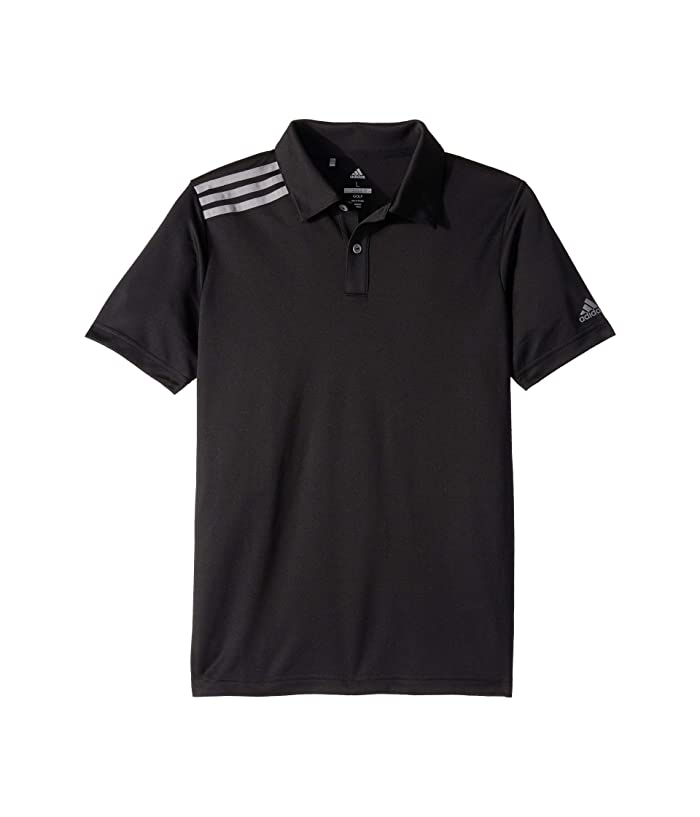 adidas Golf Kids  3 Tournament Polo (Little Kids/Big Kids) (Black) Boys Short Sleeve Knit