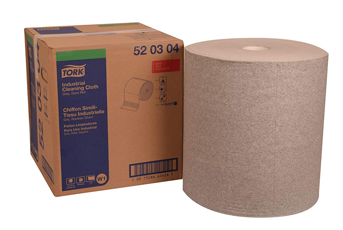 Tork 520304 Industrial Cleaning Cloth, Giant Roll, 1-Ply, 16.9