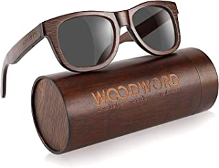 Polarized Wood Sunglasses for Men Women - Bamboo Wood Sunglasses with Case