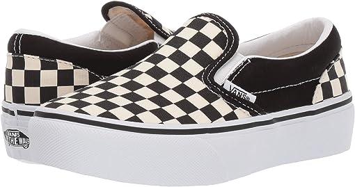 Black & White Checker/White