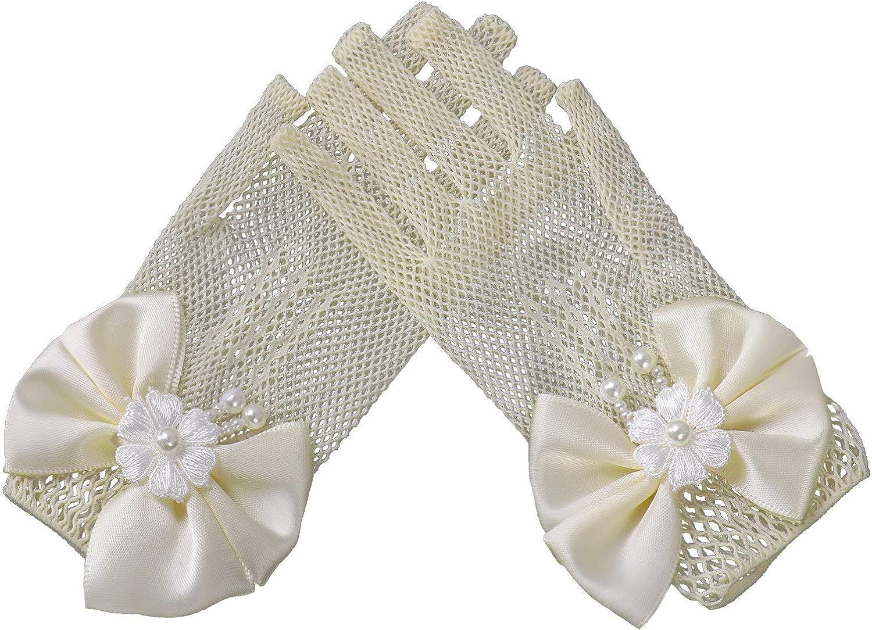 Choomomo Kids Girls Ranking TOP10 Rare Wedding Bowknot Glove Wris Flower Girl Pearl