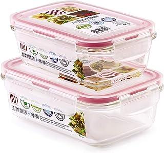 Glassfood - Recambios de Contenedores de Vidrio para Bolsas Térmicas Iris Lunchbag Basic. Capacidades 0.57L + 0.84L